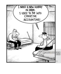 'I need a new hobby in here. I used to be into creative accounting.'