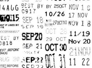 expiration dates